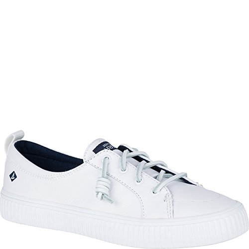 Sperry Top-sider Donna Crest Vibe Creeper Sneaker In Pelle Bianca