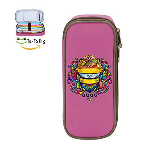 Cute Large Capacity Cool Canvas Pencil Case Pen Bag Candy Car Student Pink