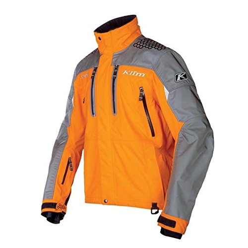 Klim Valdez Parka Men's Ski Snowmobile Jacket - Orange / Large