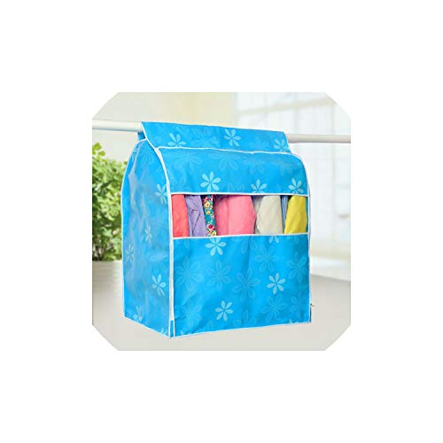 Dust Cover Large Non Woven Clothes Cover for Garment Suit Dress Coat Wardrobe Cloth Dust Covers Stereoscopic Clothing Cover Storage Bag,Blue,90X80X50Cm (Cameo 3 Door Wardrobe)