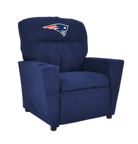 Imperial Officially Licensed NFL Furniture: Youth Microfiber Recliner, New England (New England Patriots Room Decor)