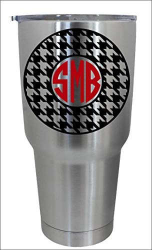 Alabama Monogram - CELYCASY Houndstooth Monogram Decal/Alabama Inspired Football Decal/Monogram Decal/Framed Decal/Decal Only