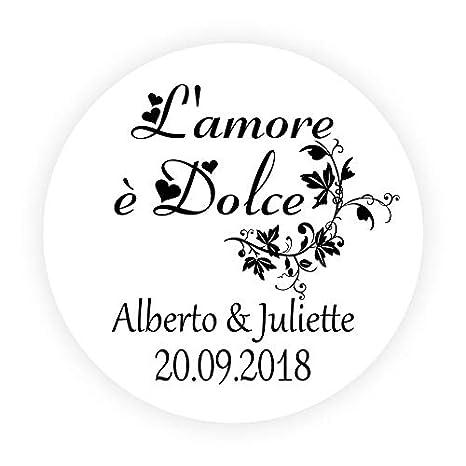 LYLY 48 Pi/èces Autocollants Personnalisable Mariage Lamour est Doux Francais Dragees Mariage  Amor es Dulce Rondes 40 mm Fleurs Faveur Invitation Mariage Bapt/ême No/ël Anniversaire F/ête