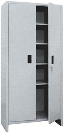 PROMETAL Armadio tutto piani 'pratiko' in lamiera verniciata, 1 anta. completo di quattro mensole, fornito smontato, 60 X 40 X 175 Cm