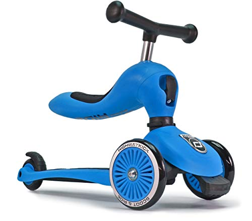Ride Scooter Bike - Scoot and Ride 2-in-1 Bike and Kick Scooter Combo for Children Ages 1-5 Years Old (Blue)