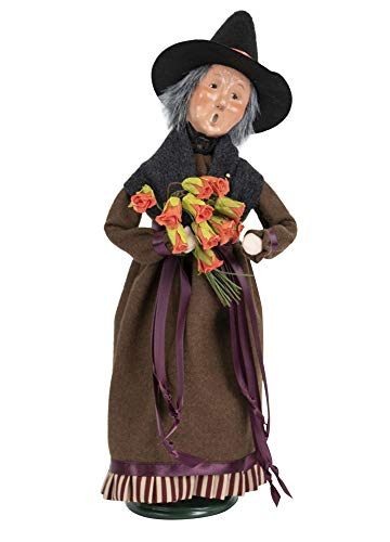 Byers' Choice Witch w/Roses Caroler Figurine from The Halloween Collection #7193 (New 2019)