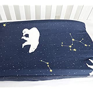 Sahaler Baby Changing Pad Cover Original Cotton Changing Table Pad Diaper Liners Baby Changing Table Cover - Polar Bear