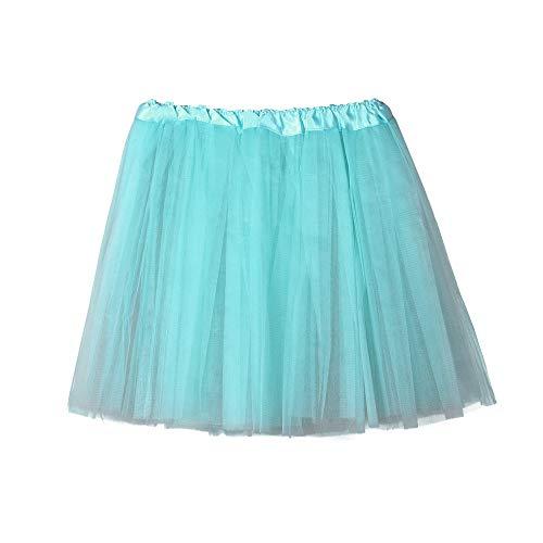 GLVSZ Ballet Style Tutu for Valentines, Easter, Costumes, Princess Tutu,Dance or Fun Run Light Blue