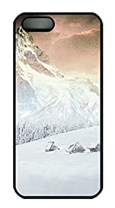 iPhone 5 5S Case Landscapes mountain 4 PC Custom iPhone 5 5S Case Cover Black