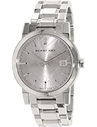 Burberry The City Grey Dial Stainless Steel Ladies Watch BU9143