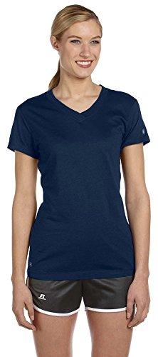 Russell Athletic Ladies Dri-Power V-Neck T-Shirt, 2XL, J ()