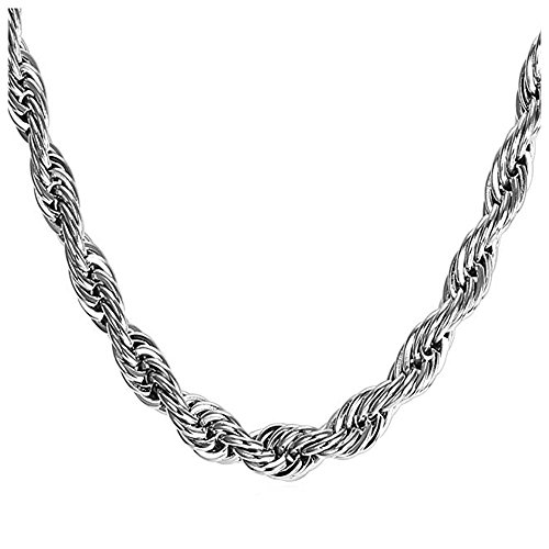 European Charm Necklace for Women and Girls Bead Charms, Stainless Steel Rope Chain, Claw 22 Inch