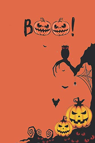 Black Cat Coloring Page For Halloween (Boo!: Blank Lined Notebook Journal. Black planner and organizer for cat lovers. Size : 6x9 Pages :)