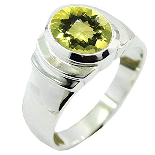 (55Carat Choose Your Color Natural Stone Silver Rings Bold Oval Shape Bezel Setting Handcrafted Sizes 5-12)