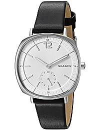 Skagen SKW2403 Reloj para Mujer Rectangular, Análogo, color Blanco y Negro