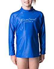 Rip Curl Girls' JNR Girl Rosewood L/SL, Blue