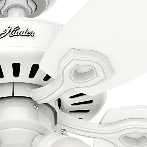 Hunter 53236 Builder Plus 52-inch Ceiling Fan, Snow White by Hunter Fan Company (Image #4)'