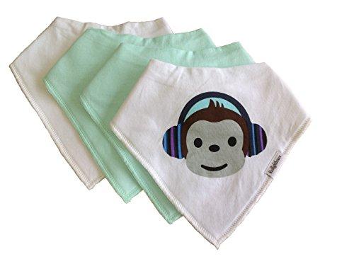 Baby Bandana Cheeky Monkey Drool Bibs Organic Cotton