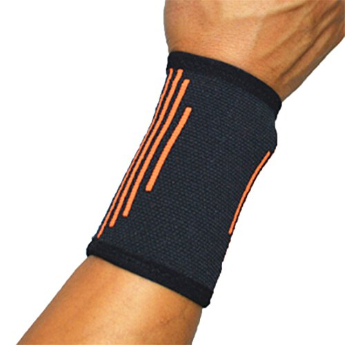 UNKE Elastic Wrist Band Support Sleeve Sweatband for Arthritis, Tendonitis, Carpal Tunnel Syndrome, - Tunnel Sleeve