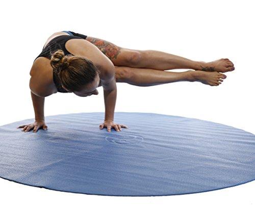 Tai Chi Circle Round Yoga Mat MAUI BLUE Pilates Meditation 60