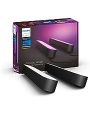 Philips Hue Play White and Color Ambiance Zestaw, 2x podłużna lampa, czarna, 16 mln kolorów, możliwość przyciemniania, sterowanie aplikacją