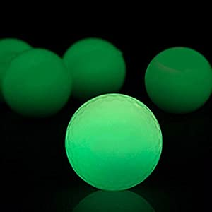 Night Glow Golf Balls - Long Lasting Fluorescent Golf Balls, Ultra Bright Glow in the Dark Golf Ball Rechargeable by Sunlight or Flashlight