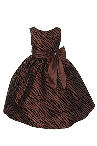 Zebra Print Formal Dress - 8