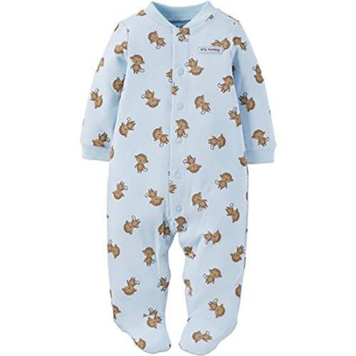 Child Of Mine Made By Carters Newborn Baby Boy Sleep N Play (0-3(8-12.5lb), Monkey)