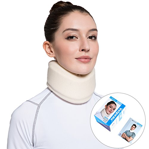 Price comparison product image Neck Brace for Neck Pain - Cervical Collar - Double Layer Composite of EVA & Sponge - Can Be Used During Sleep - Strong Support Wraps Aligns & Stabilizes Vertebrae(Medium)