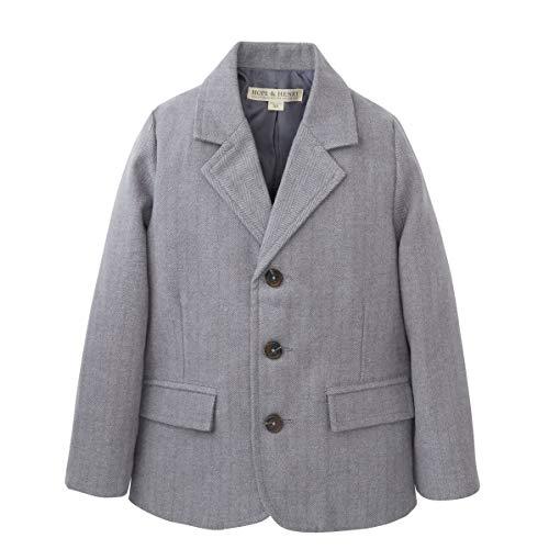(Hope & Henry Boys' Grey Herringbone Suit Jacket)