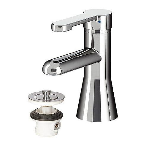 IKEA RORSKAR – Waschbecken Armatur mit Sieb, verchromt: Amazon.de ...