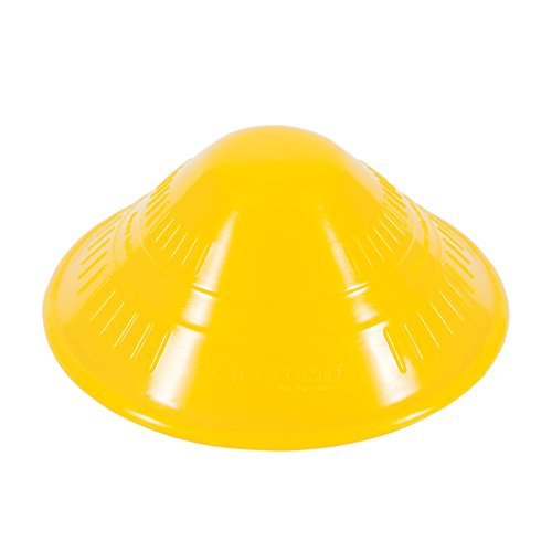 Dycem 50-1650Y Non-Slip Cone-Shaped Jar Opener, 4-1/2'' Diameter, Yellow by Dycem