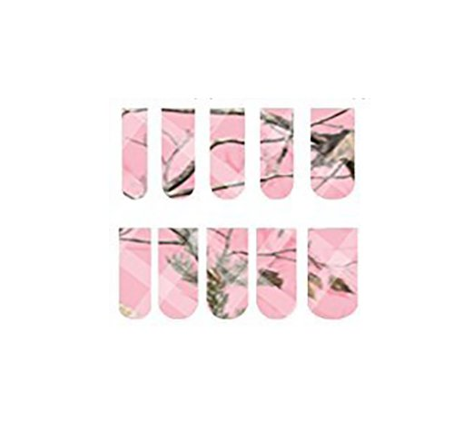 Pink-Camo-Full-Nail-Decals-Nail-Wraps-Water-Slide-Decal