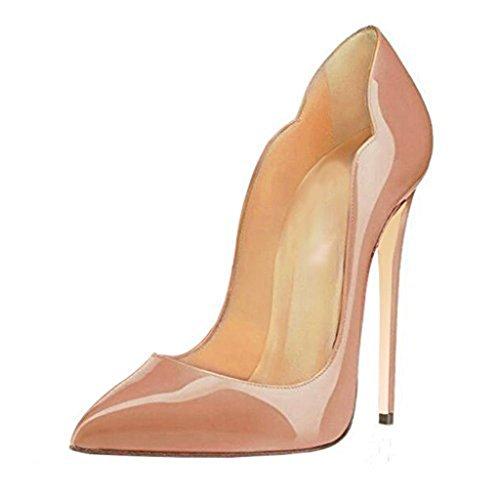 Chaussures Nudecolor Pour En Avec Verni Dégr yy À Hauts Talons Cuir Lyy Femme 75Hwg