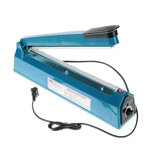 "12"" Sealing Machine Poly Plastic Element Closer, Bag Sealer Hand Impulse, Home Kitchen, Food Service"