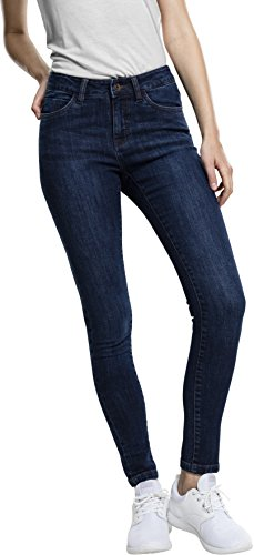 Urban Classics Ladies Denim Pants, Vaquero Skinny para Mujer Blau (Darkblue 800)