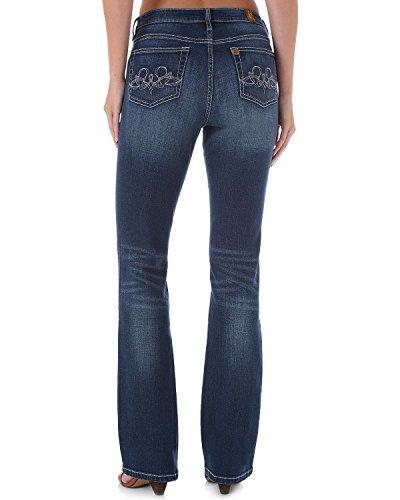 Wrangler Women's Aura Instantly Slimming Swirl Pocket Jeans Denim 4 A (Aura Instantly Slimming Jeans)