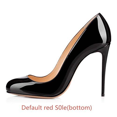 Donne Scarpe Rosso Alti Nero A Base Sexy Formale Tacchi Rotonda Caitlin B0tt0m Pan Vestito Delle Delle Di Spillo Pompe Sul Slittamento Tacco Punta 4qwWqf1S8A