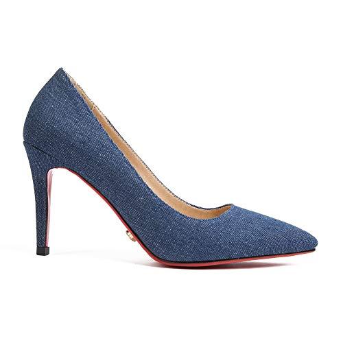 Bleu 36 EU Compensées Bleu 5 BalaMasa Sandales Femme APL10753 wf8qxRYRI