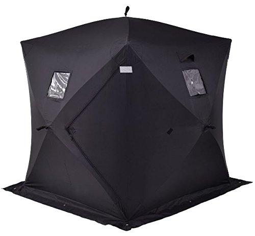 K&A Company Outdoor Portable Ice Fishing Shelter Tent 300 D Oxford 2-3 Person 22 lbs New 58'' x 58'' x 66''(L x W x H) by K&A Company