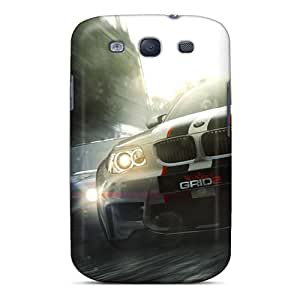 Tpu Case Cover For Galaxy S3 Strong Protect Case - Grid 2 Design