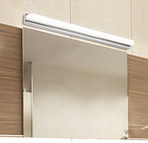 . LED-Spiegel Scheinwerfer Edelstahl Makeup Lichter Badezimmer Badezimmer Dressing Licht Anti-Fog wasserdichte Wandleuchte (Color : Warm light)