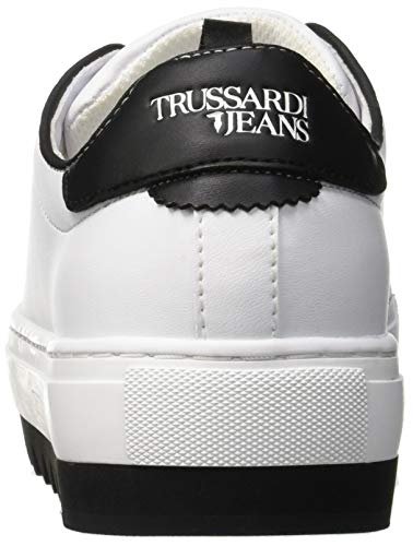 Trussardi Biancobianco Da And Ginnastica Sneakers PearlsScarpe W001 Pins Donna Jeans Faux XuOZTlwPki