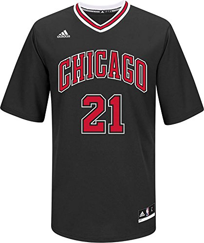 Chicago Bulls Jimmy Butler #21 Replica Jersey NBA Adidas Official Black Printed (XX-Large)