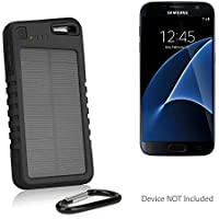 Samsung Galaxy S8 Plus Battery, BoxWave [Solar Rejuva PowerPack (5000mAh)] Solar Powered Backup Power Bank for Samsung Galaxy S8 Plus - Jet Black