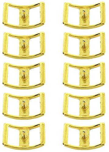 "ProRider Horse Saddle Tack Hardware 3/4"" DC CONWAY BUCKLES Brass Reins Horse dog 40316"