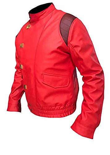 32b957d9a7 Men s Fashion Akira Kaneda Real Leather Jacket Red