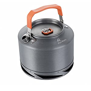 Fire-Maple Portable Heat Exchanger Kettle Outdoor Camping Picnic Cookware Tea Coffee Pot with Tea Filter FMC-XT2/1.5L