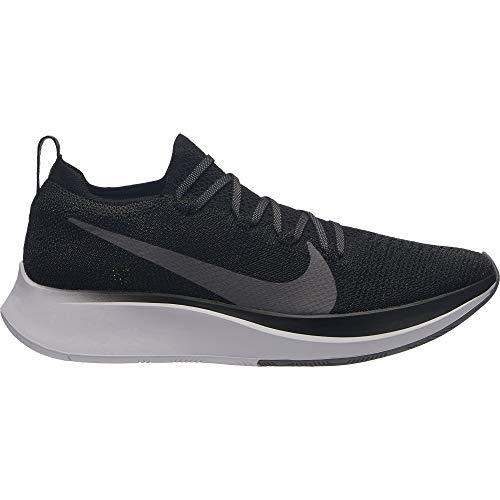 NIKE Zoom Fly Flyknit Women's Running Shoe Black/Gunsmoke-White 8.0