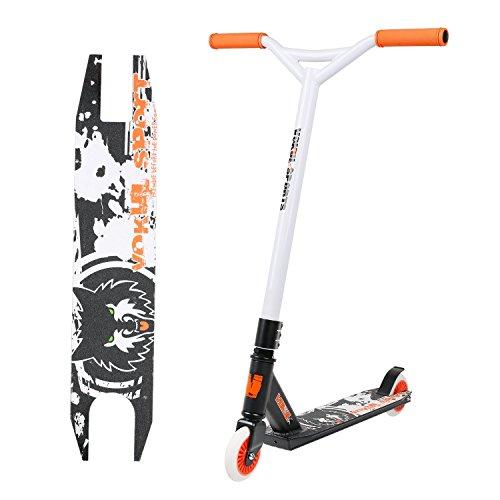 Vokul TG-6061 Pro XX Aluminum Kick Scooter with High Grade Urethane Wheel (Y-orange)